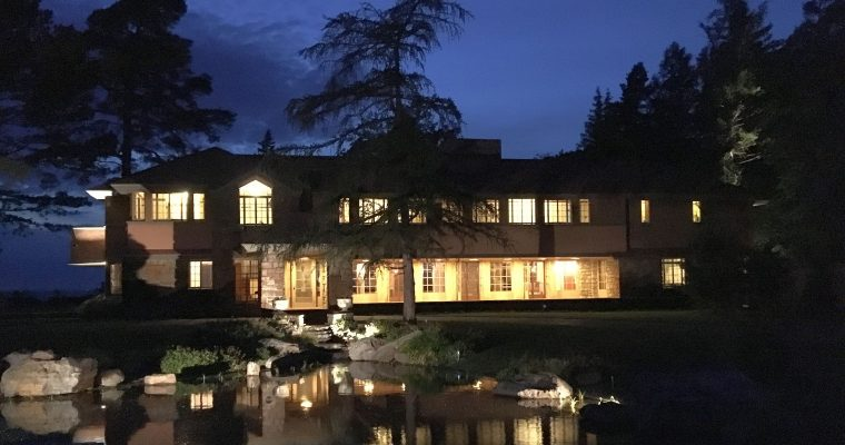 Dusk at Frank Lloyd Wright's Graycliff Estate