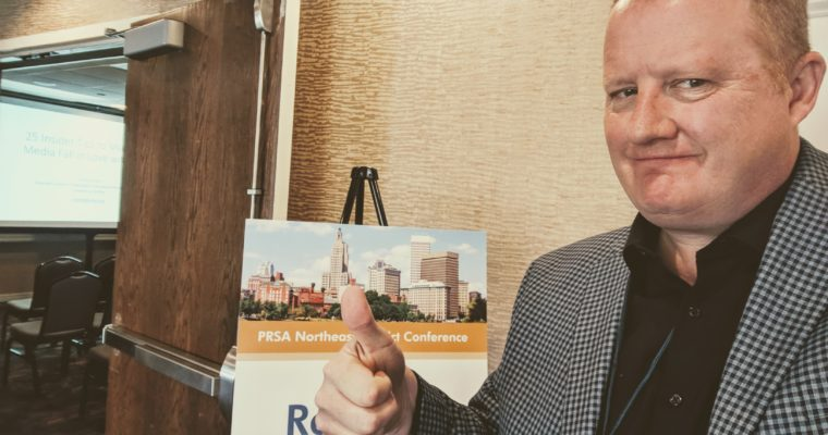 MEDIA RELATIONS PRESENTATION AT PRSA NORTHEAST DISTRICT CONFERENCE IN PROVIDENCE, RI