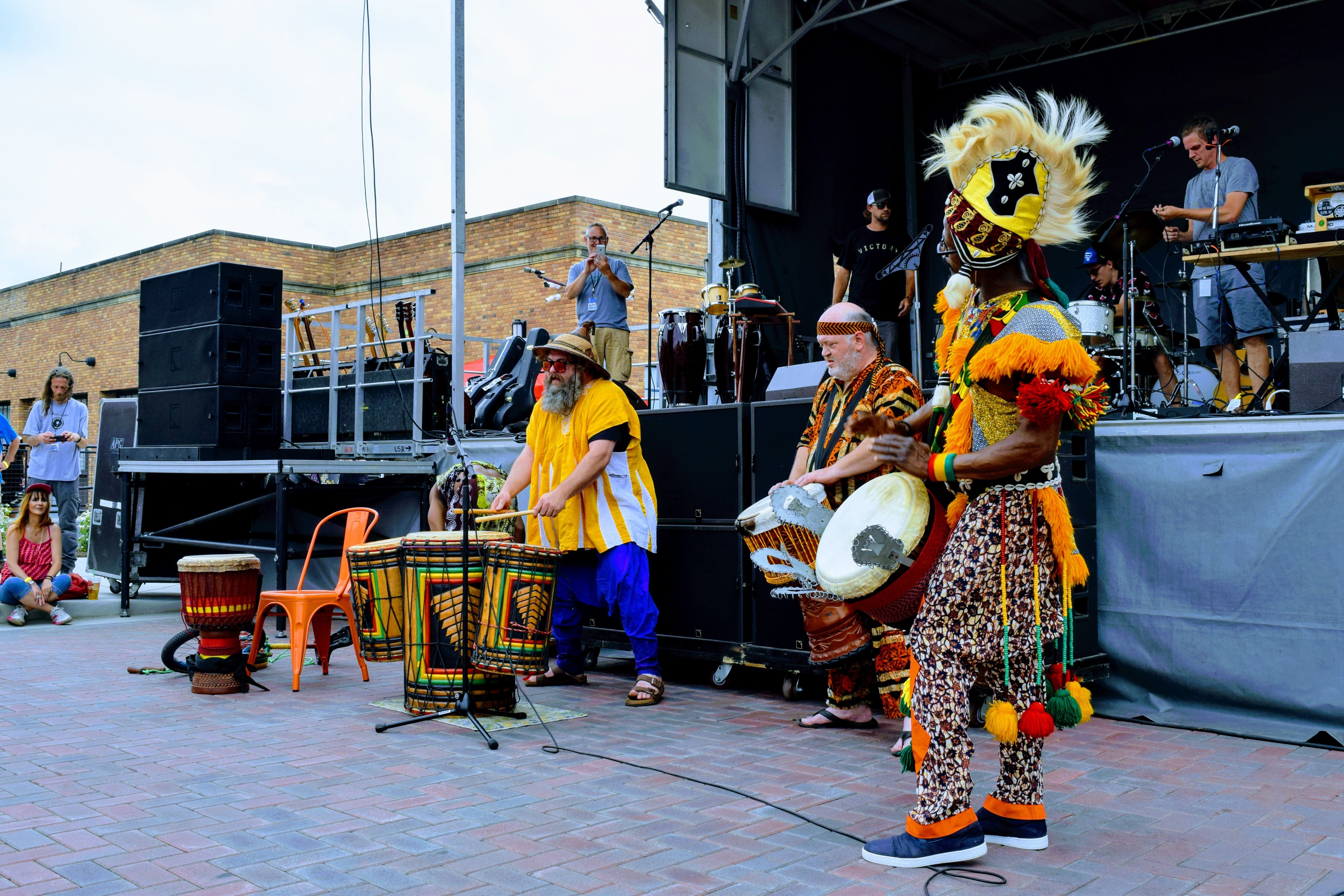 Sly Boot Circus drums and percussion group performs at Jamestown Best Day Ever