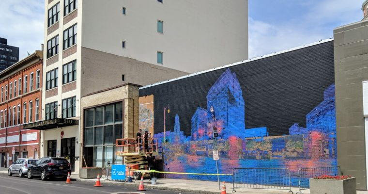 Stunning new mural being installed in downtown Buffalo