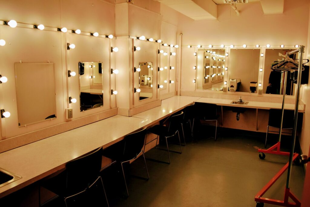 Theater dressing room in Jamestown, NY