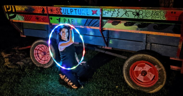 Video of first weekend of NIGHT LIGHTS at Griffis Sculpture Park